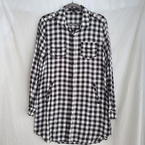 Love Tree Plaid Tunic/Shirt Dress